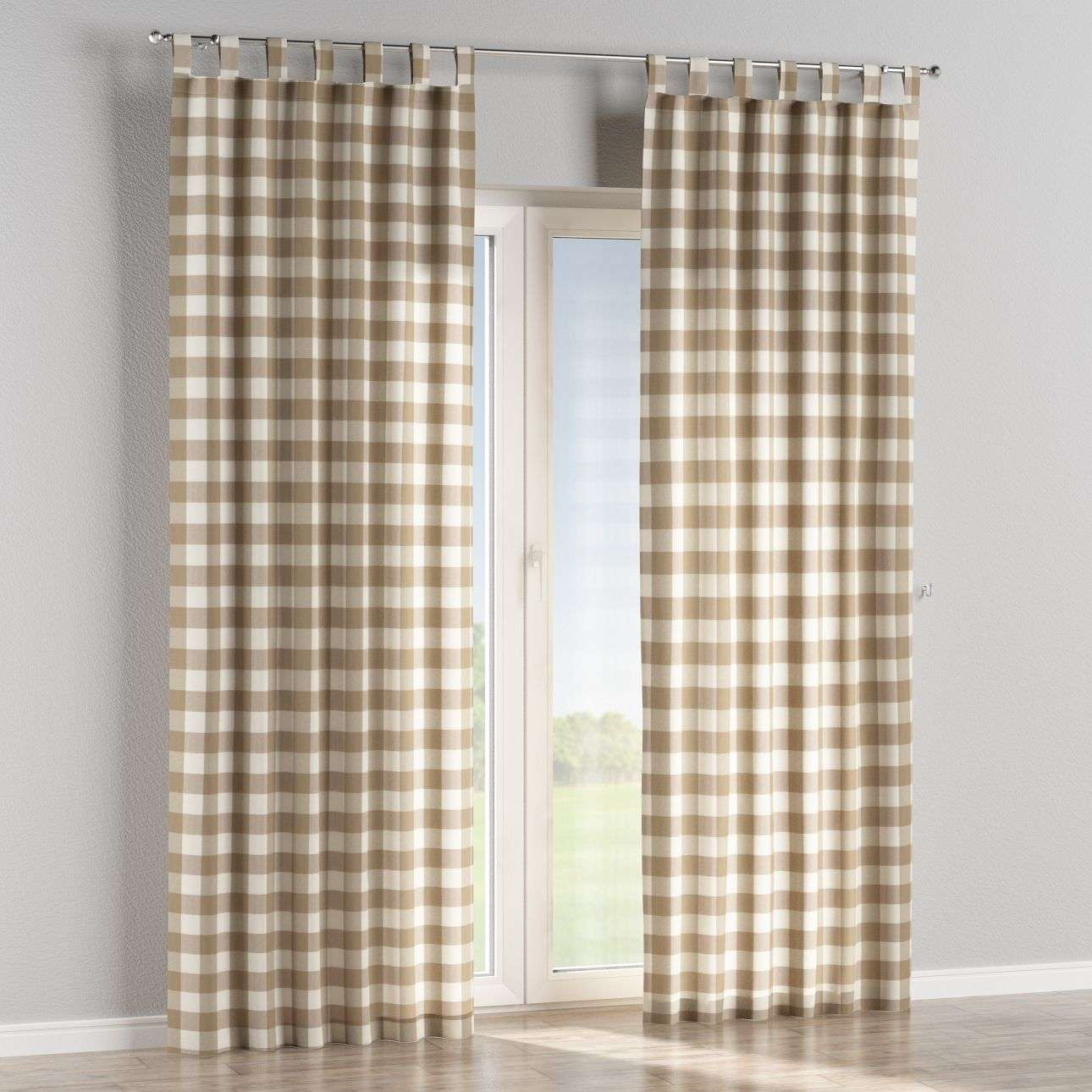 Tab top curtains in collection Quadro, fabric: 136-08