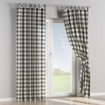 Tab top curtains in collection Quadro, fabric: 136-13