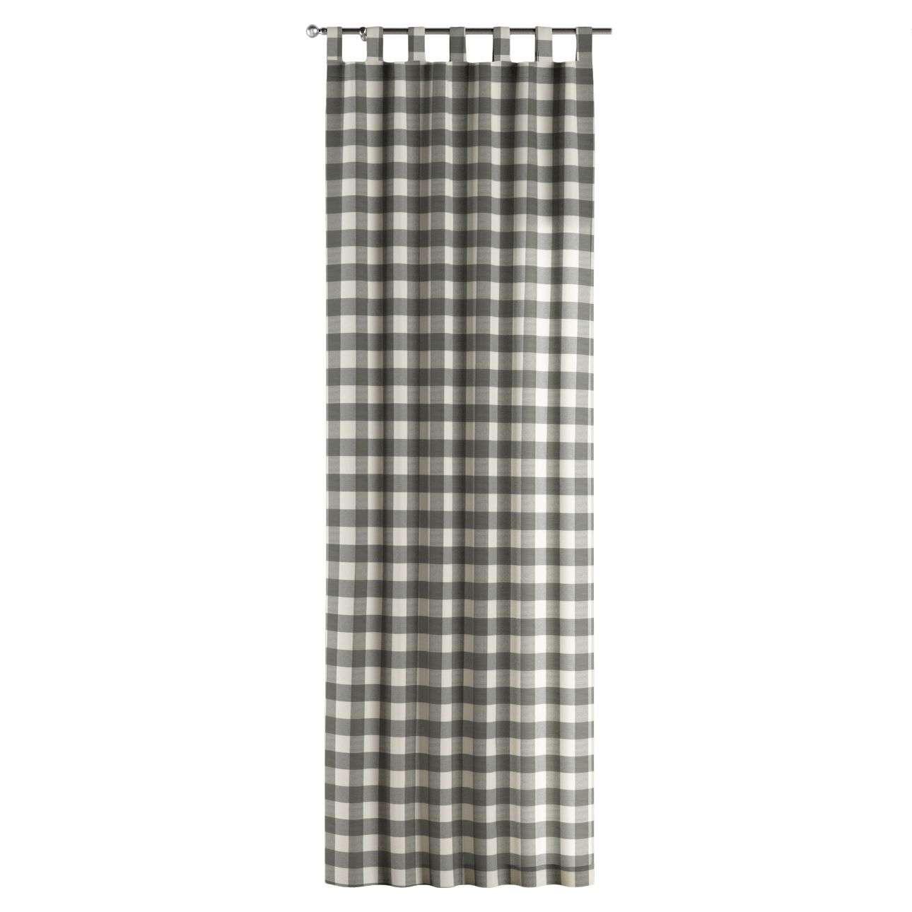 Gardin med stropper 1 stk. 130 × 260 cm fra kolleksjonen Quadro, Stoffets bredde: 136-13