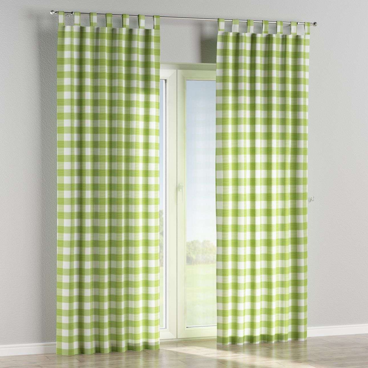 Tab top curtains in collection Quadro, fabric: 136-36