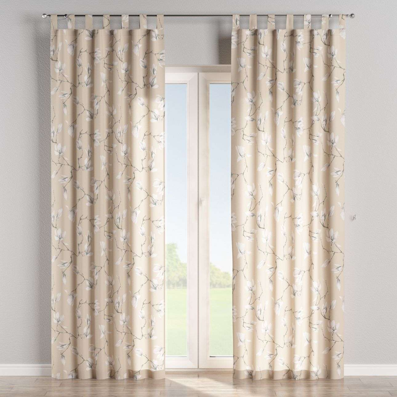 Tab top curtains in collection Flowers, fabric: 311-12