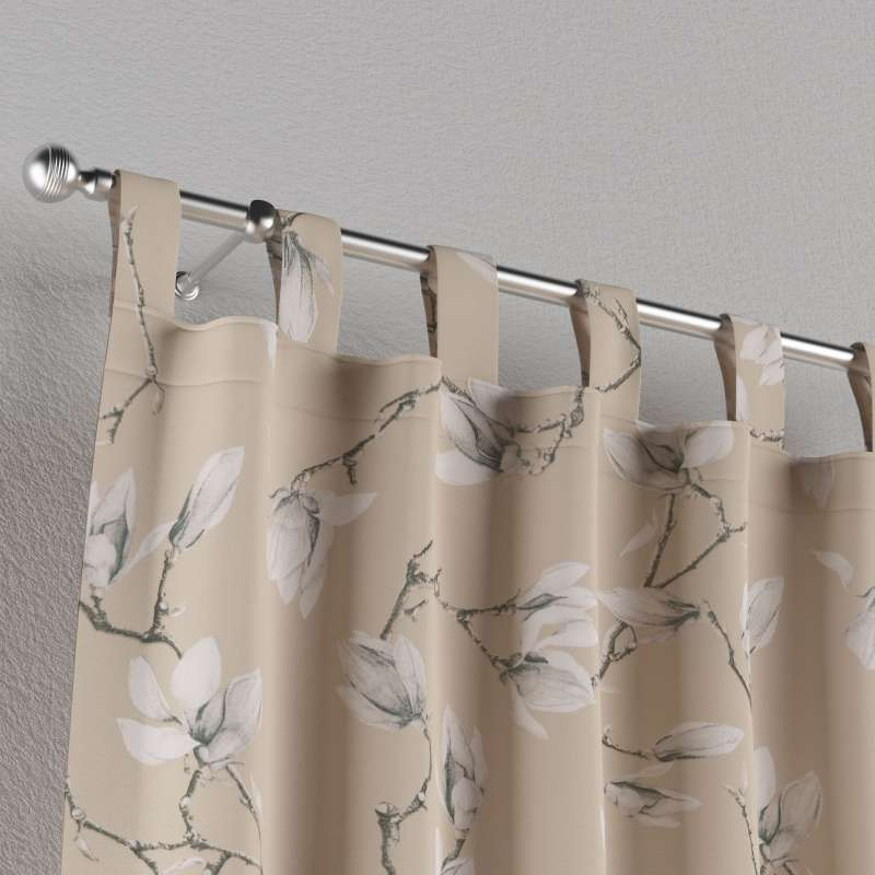 Záves na pútkach V kolekcii Flowers, tkanina: 311-12