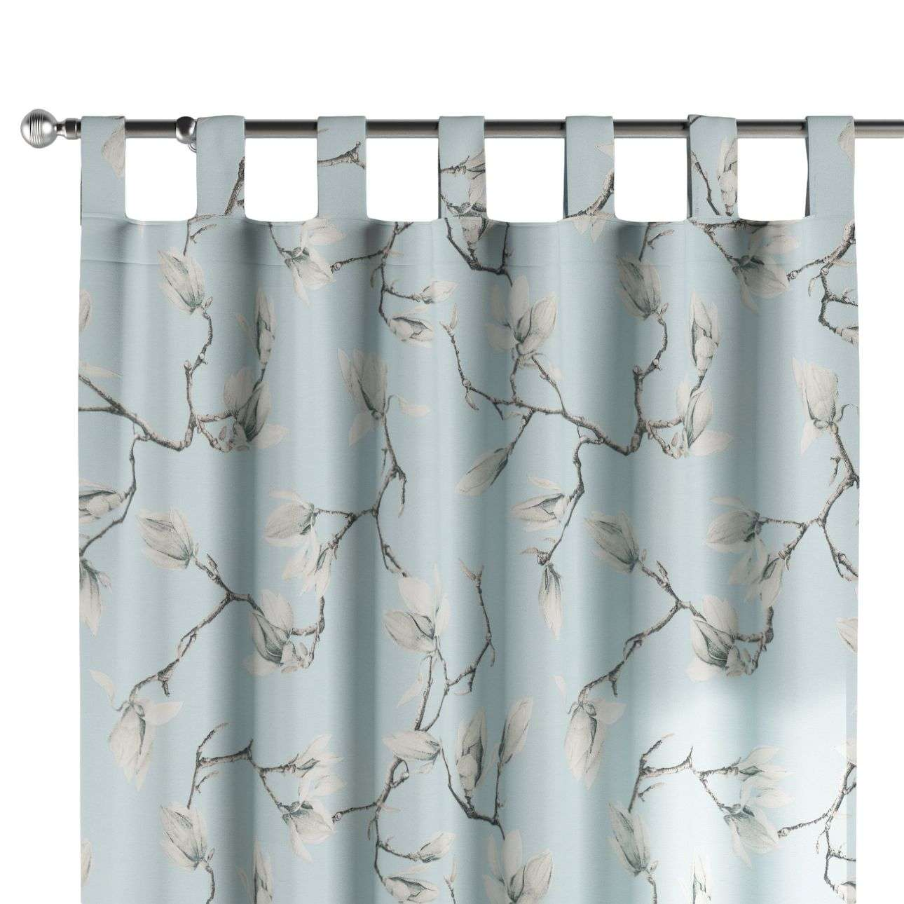Tab top curtains in collection Flowers, fabric: 311-14