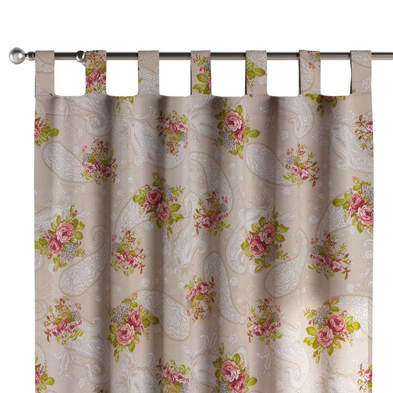Tab top curtains in collection Flowers, fabric: 311-15