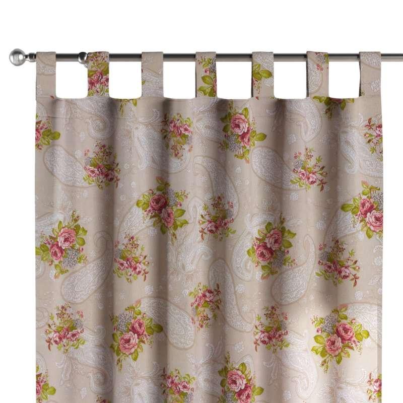Zasłona na szelkach 1 szt. w kolekcji Flowers, tkanina: 311-15