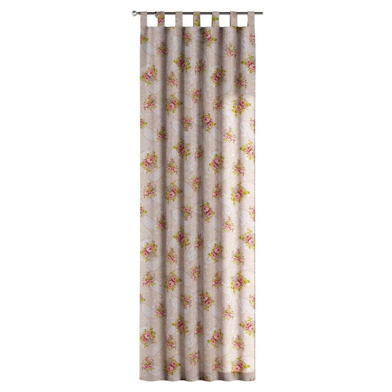 Kilpinio klostavimo užuolaidos 130 x 260 cm (plotis x ilgis) kolekcijoje Flowers, audinys: 311-15