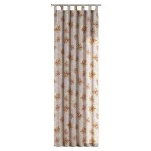 Gardin med hällor 1 längd 130 x 260 cm i kollektionen Flowers, Tyg: 311-15
