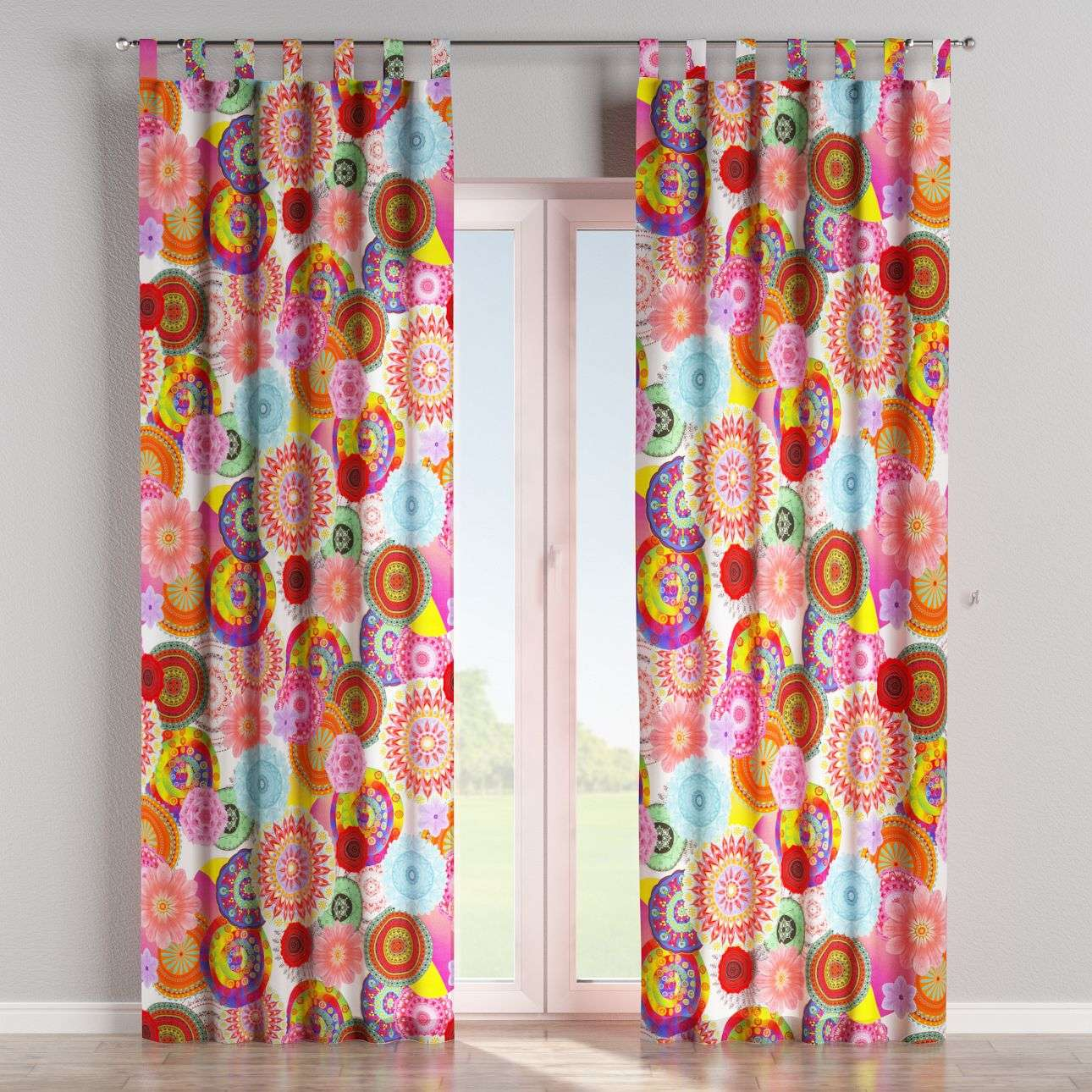 Tab top curtains 130 x 260 cm (51 x 102 inch) in collection Comic Book & Geo Prints, fabric: 135-22