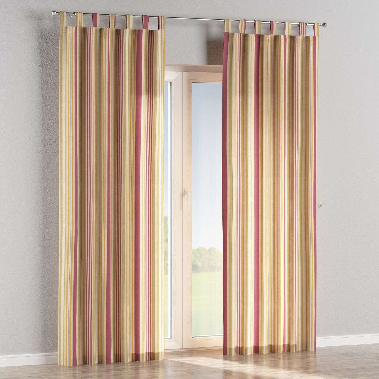 Tab top curtains 130 × 260 cm (51 × 102 inch) in collection Londres, fabric: 122-09