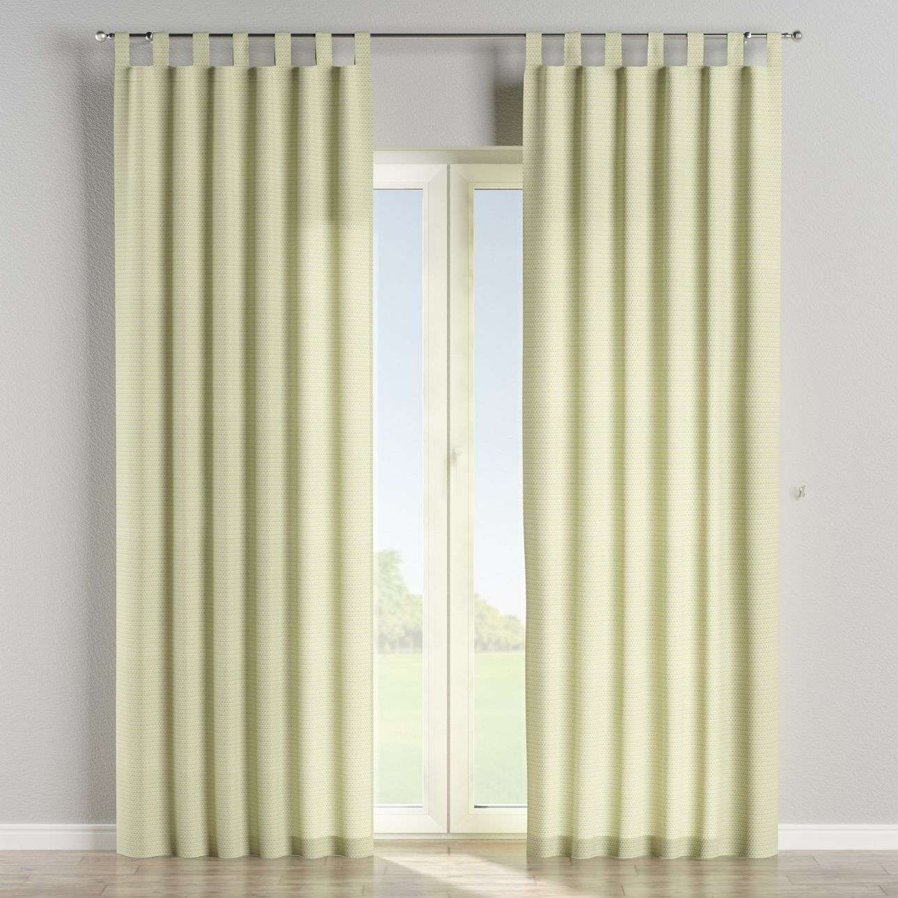 Tab top curtains in collection Rustica, fabric: 140-34