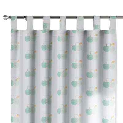 Tab top curtain 151-02 light green apples on white background Collection Little World