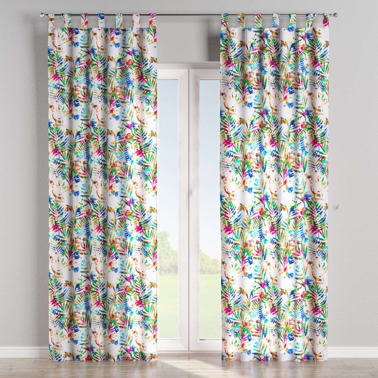 Tab top curtains 130 x 260 cm (51 x 102 inch) in collection New Art, fabric: 140-22