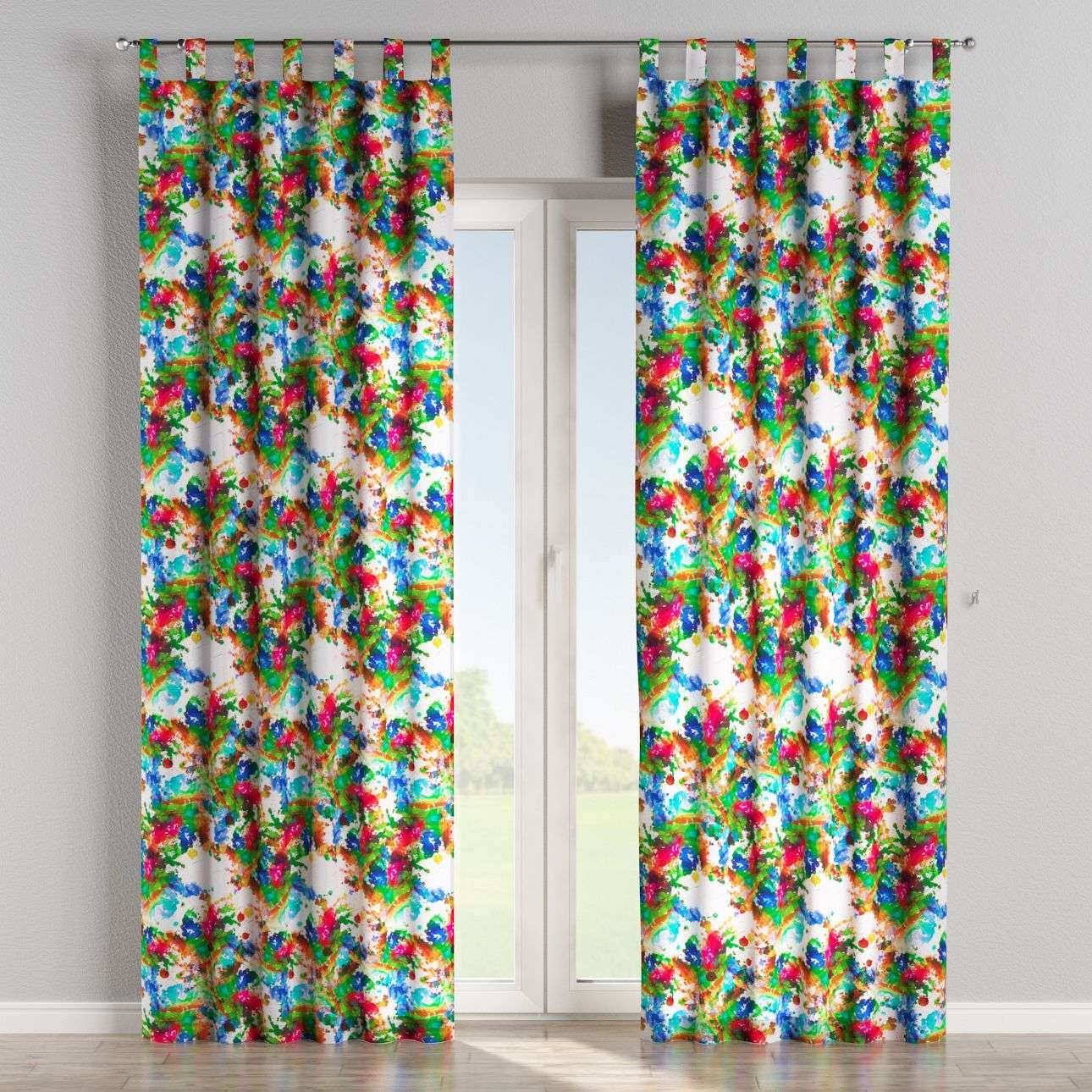 Tab top curtains 130 x 260 cm (51 x 102 inch) in collection New Art, fabric: 140-23