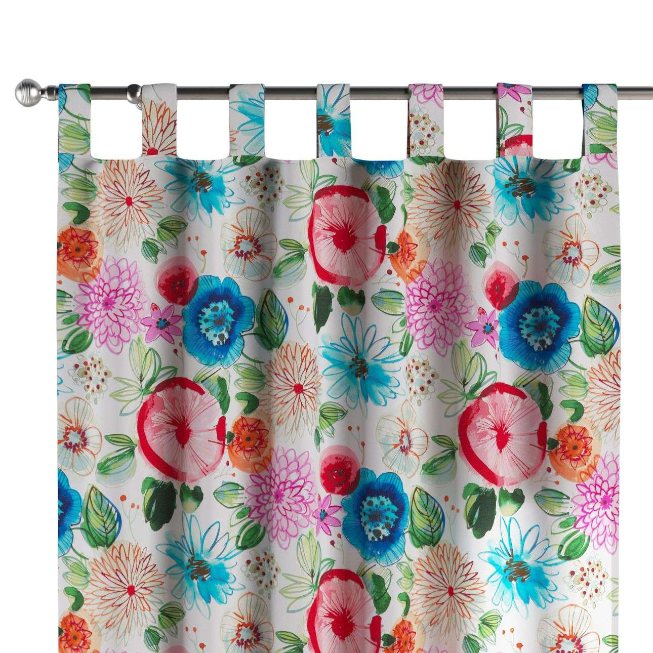 Tab top curtains 130 x 260 cm (51 x 102 inch) in collection New Art, fabric: 140-24