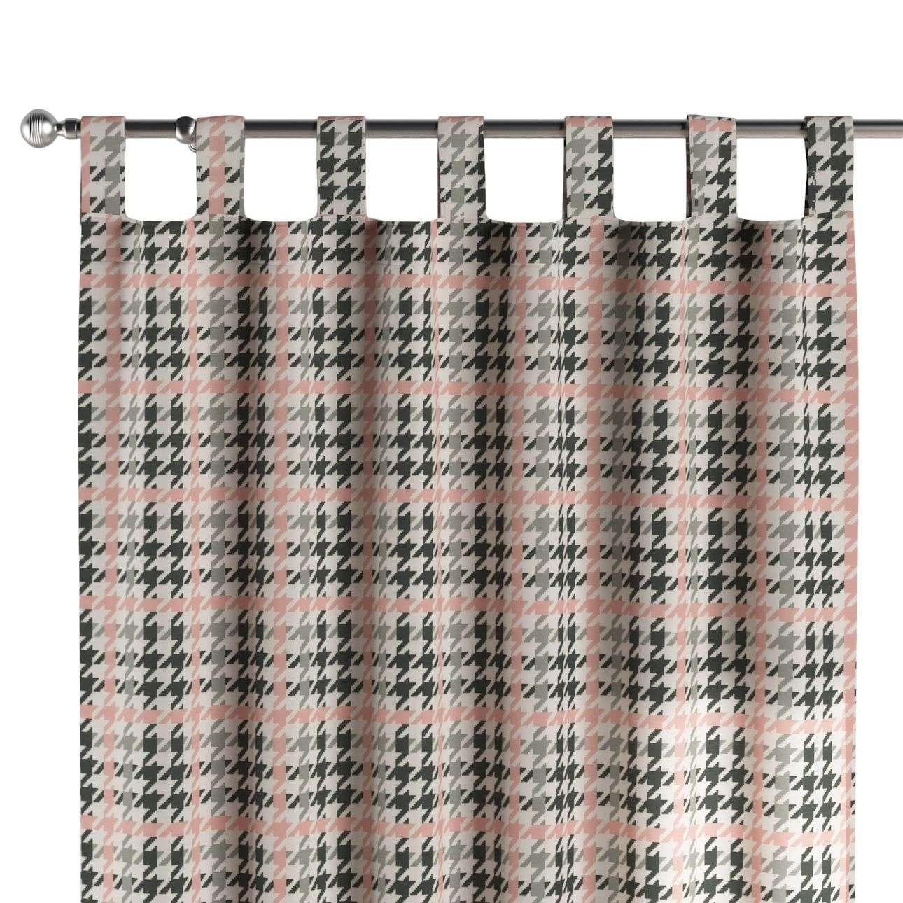 Schlaufenschal, rosa-schwarz, 1 Stck. 130 × 260 cm, Brooklyn | Heimtextilien > Gardinen und Vorhänge > Schlaufenschals | Dekoria