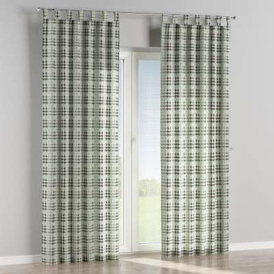 Tab top curtain 137-77 mint and black houndstooth Collection SALE
