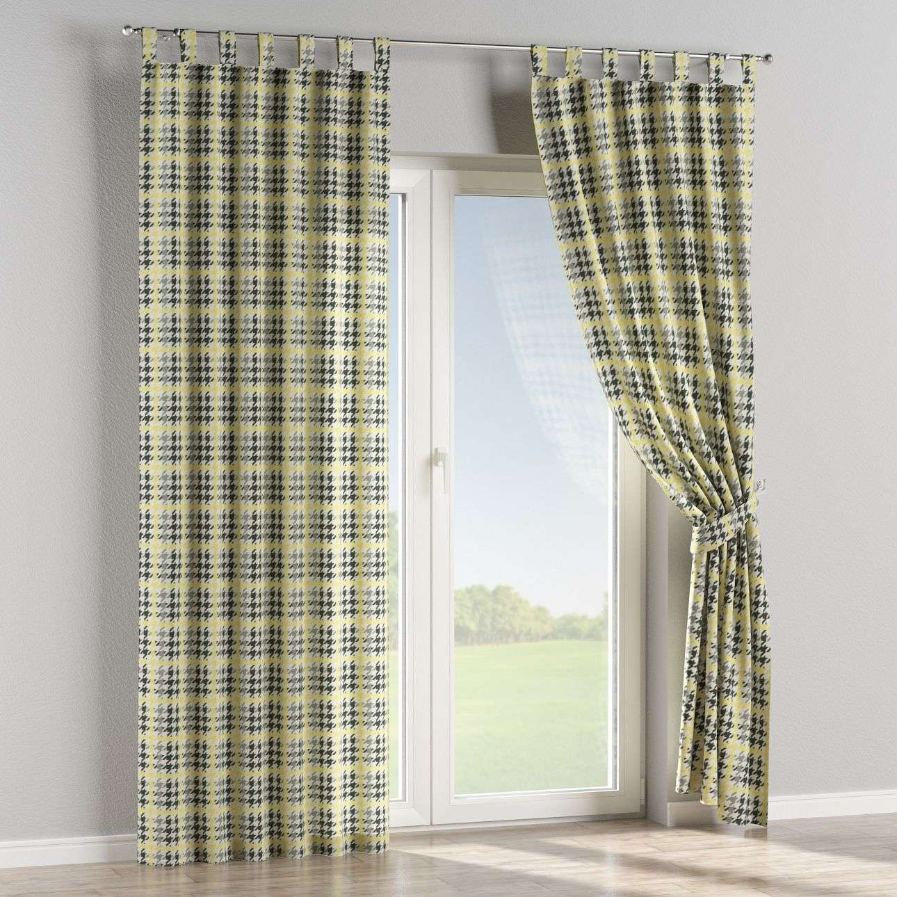 Tab top curtains in collection Brooklyn, fabric: 137-79