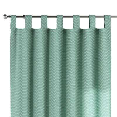 Tab top curtain 137-90 white zigzag on mint background Collection Comics/Geometrical
