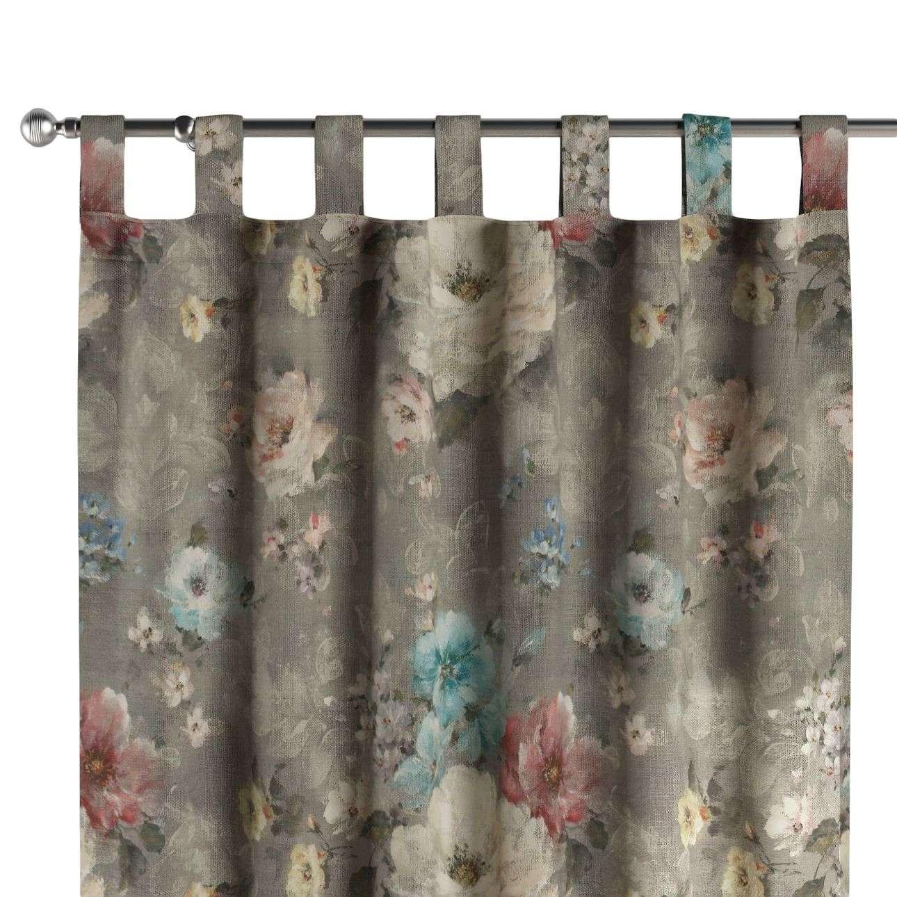 Gardin med hällor 1 längd i kollektionen Monet, Tyg: 137-81