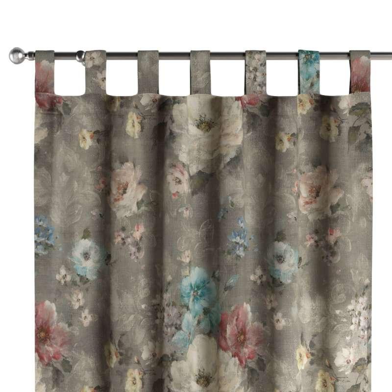 Zasłona na szelkach 1 szt. w kolekcji Flowers, tkanina: 137-81