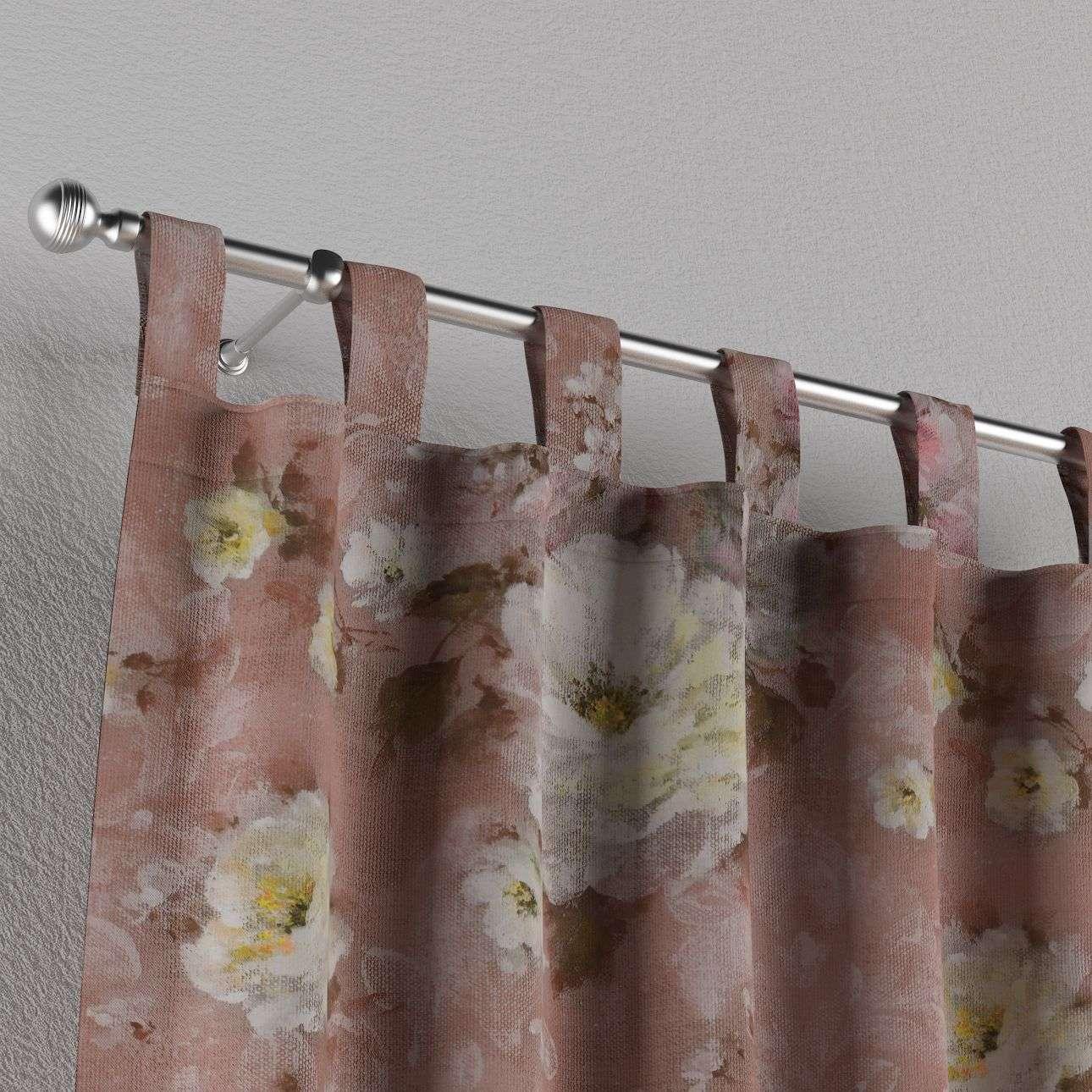 Zasłona na szelkach 1 szt. 1szt 130x260 cm w kolekcji Monet, tkanina: 137-83