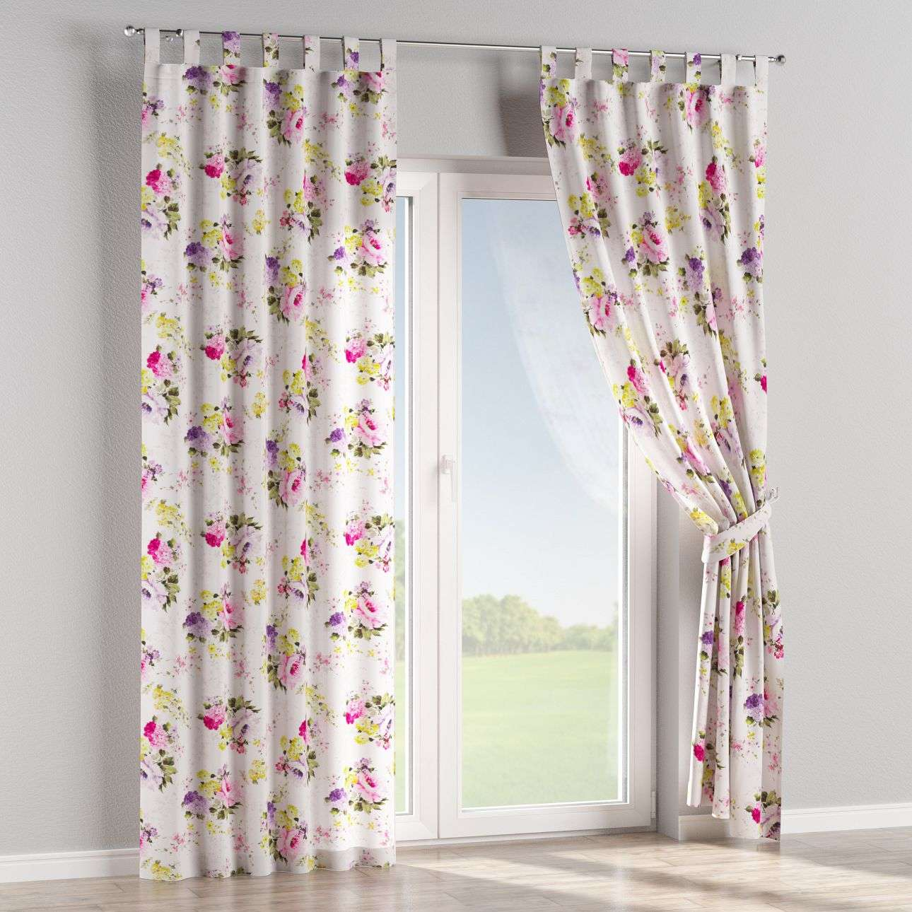 Tab top curtains in collection Monet, fabric: 140-00
