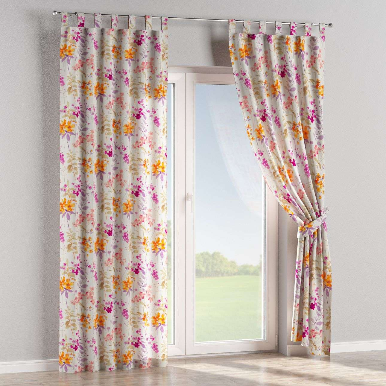 Tab top curtains 130 x 260 cm (51 x 102 inch) in collection Monet, fabric: 140-04