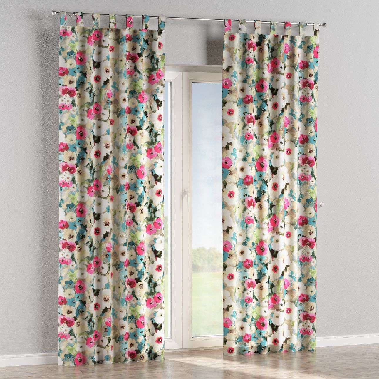Tab top curtains 130 × 260 cm (51 × 102 inch) in collection Monet, fabric: 140-08