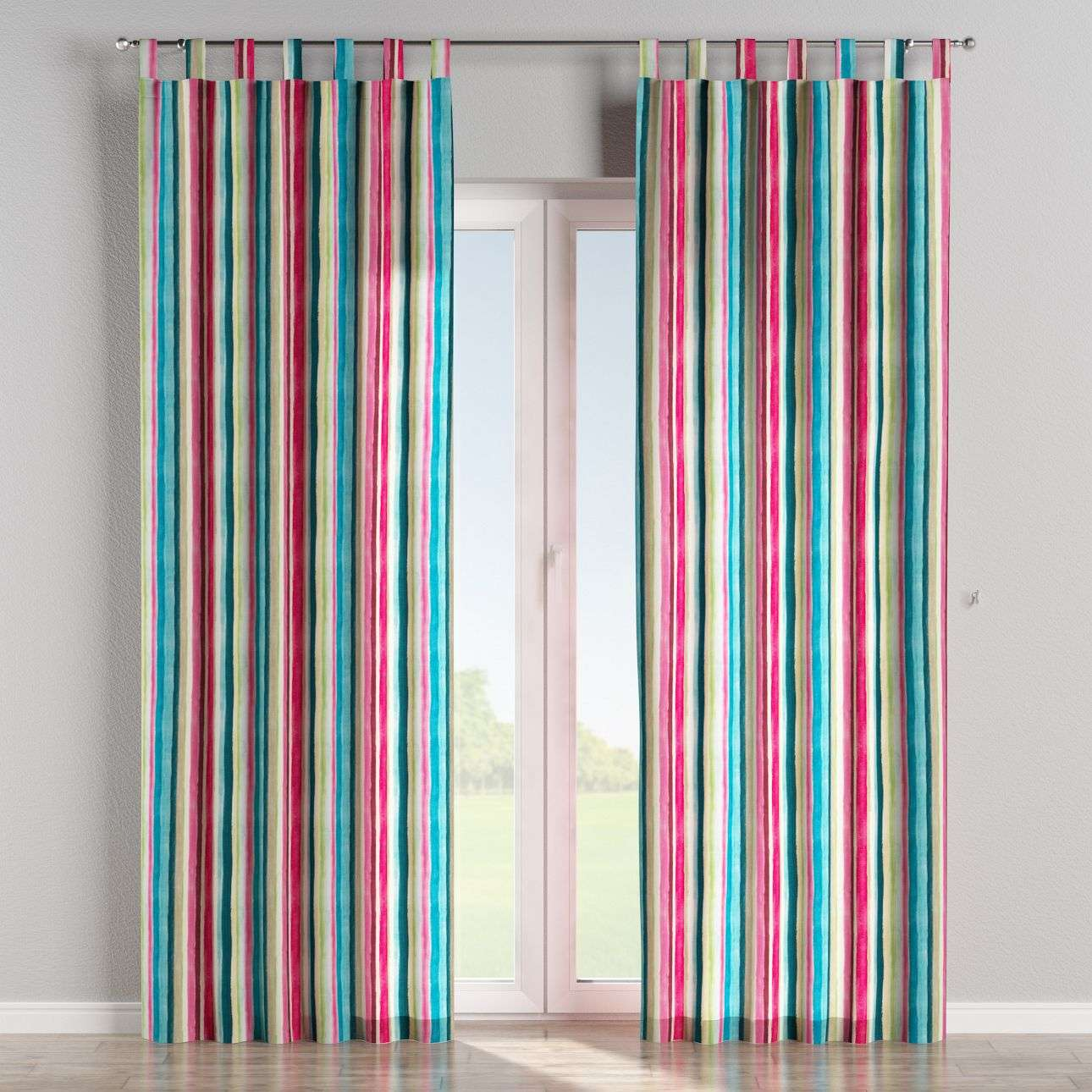 Tab top curtains 130 × 260 cm (51 × 102 inch) in collection Monet, fabric: 140-09