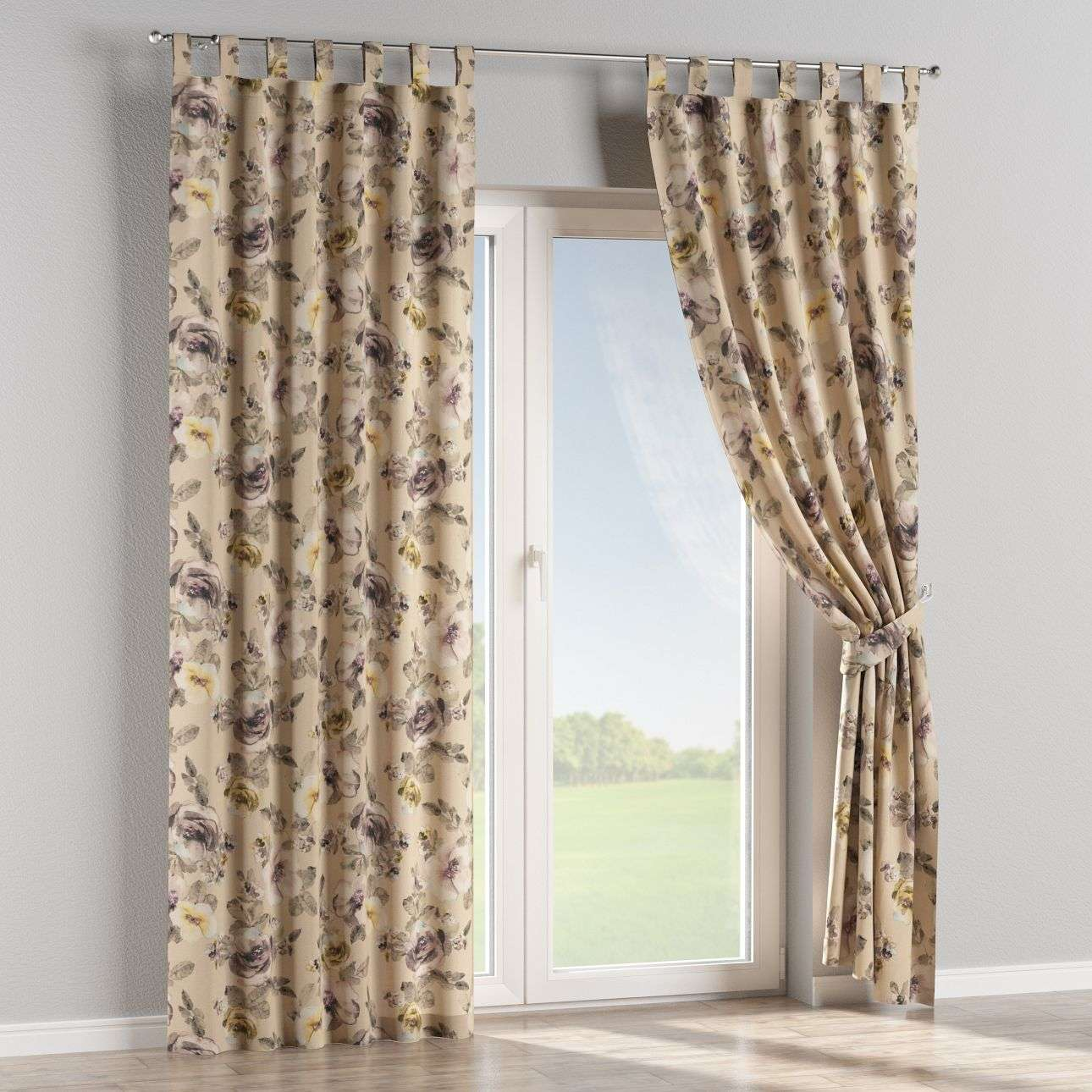 Tab top curtains in collection Londres, fabric: 140-44
