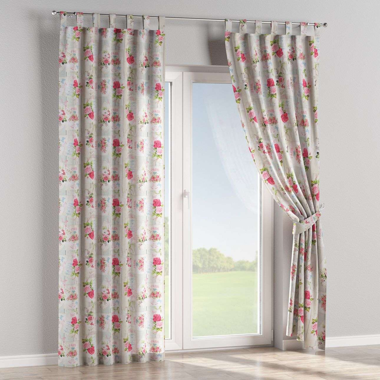 Tab top curtains in collection Ashley, fabric: 140-19