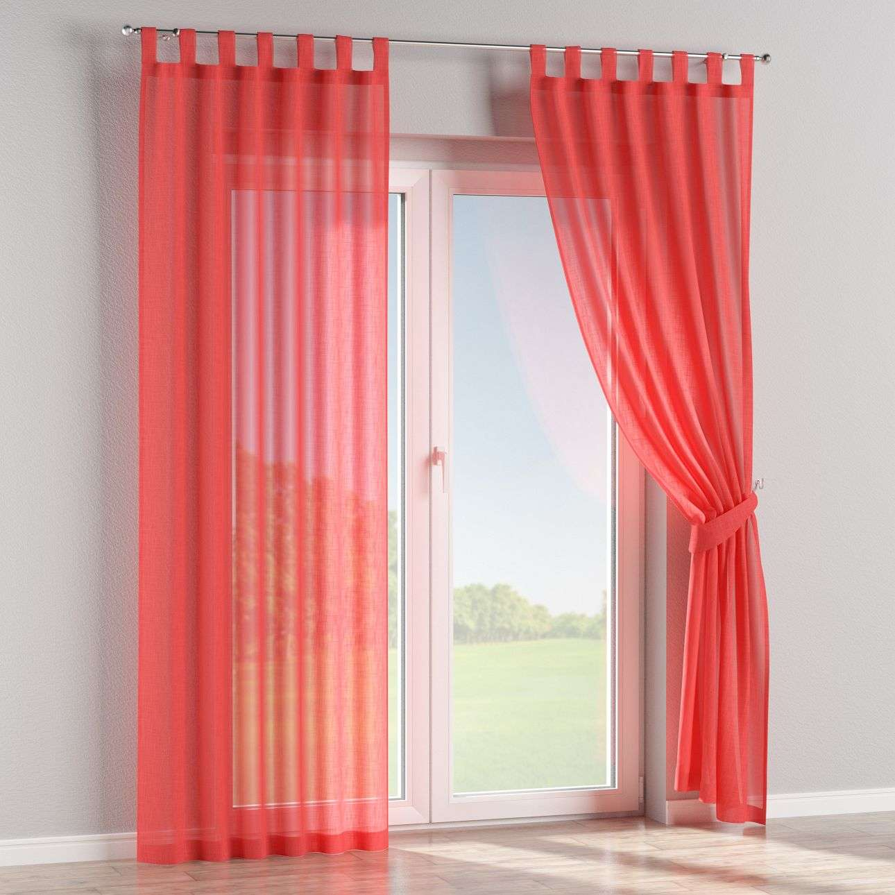 Tab top curtains 130 x 260 cm (51 x 102 inch) in collection Romantica, fabric: 128-02