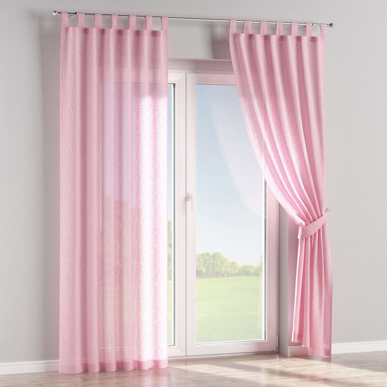 Tab top curtains 130 x 260 cm (51 x 102 inch) in collection Romantica, fabric: 128-03