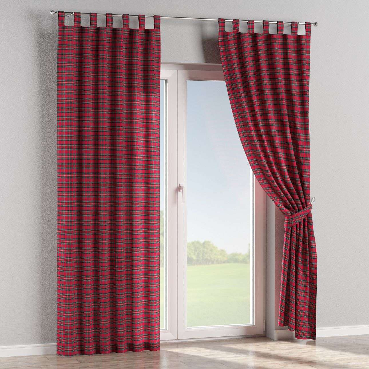 Tab top curtains 130 x 260 cm (51 x 102 inch) in collection Bristol, fabric: 126-29