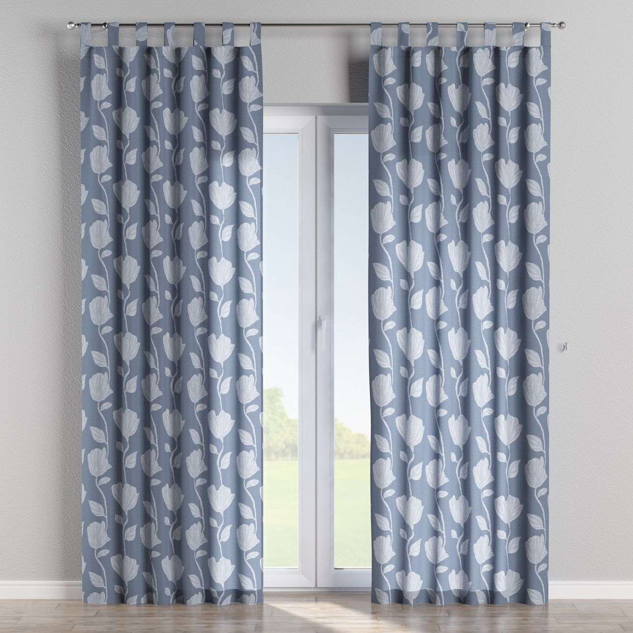 Tab top curtains 130 x 260 cm (51 x 102 inch) in collection Venice, fabric: 140-61