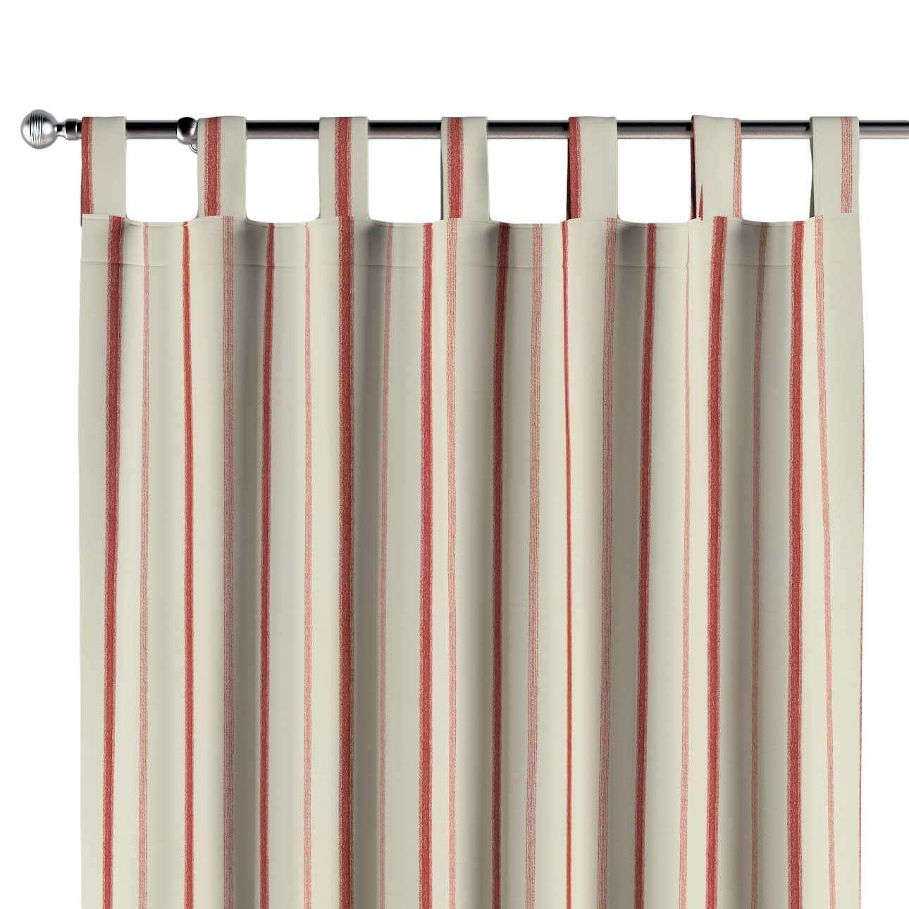 Gardin med stropper 1 stk. 130 × 260 cm fra kolleksjonen Avinon, Stoffets bredde: 129-15