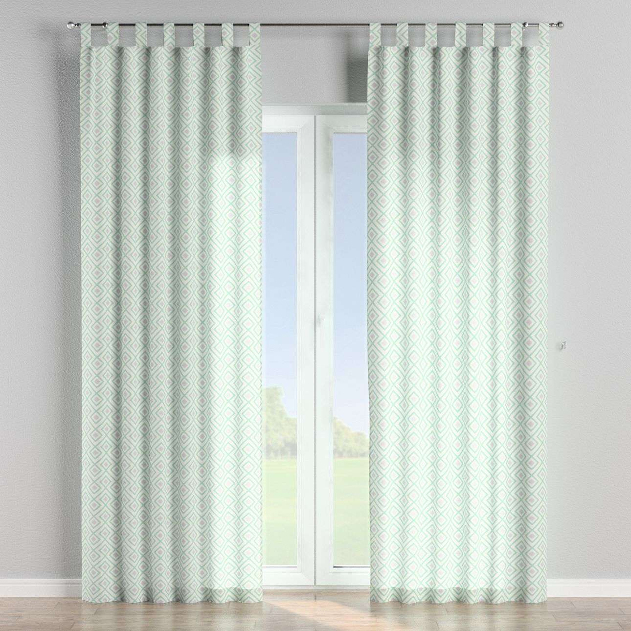 Tab top curtains in collection Geometric, fabric: 141-45