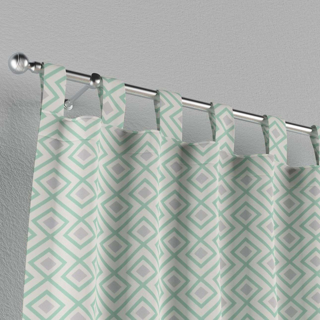 Tab top curtains 130 x 260 cm (51 x 102 inch) in collection Geometric, fabric: 141-45