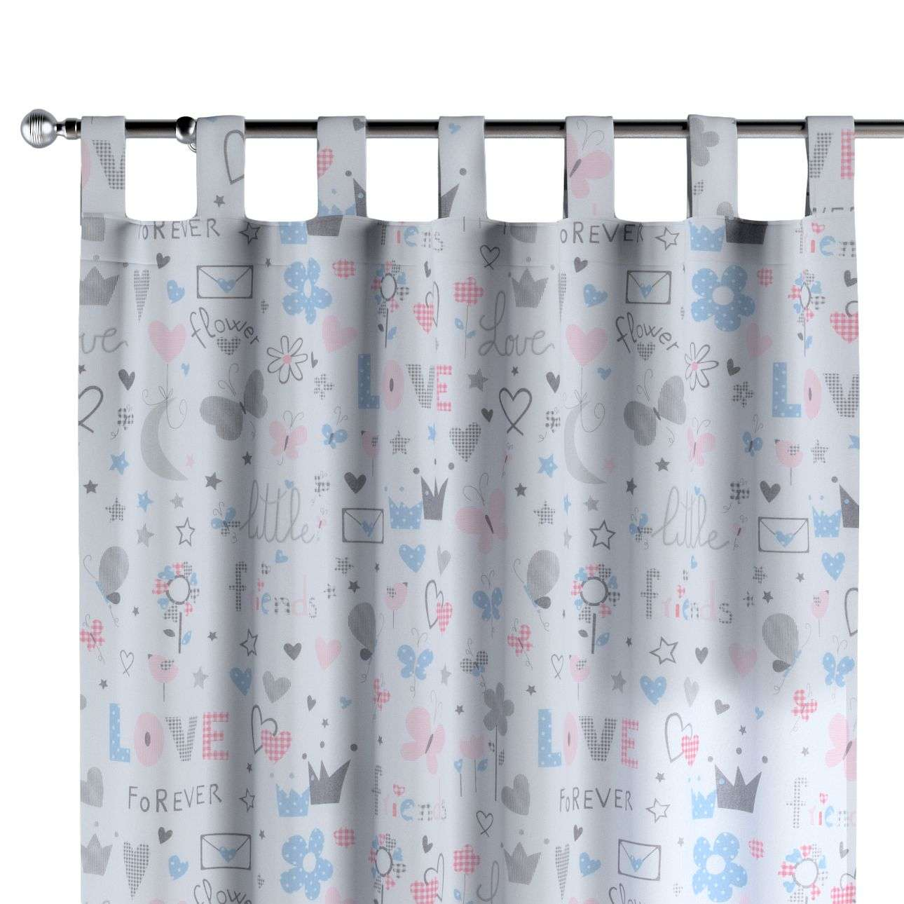 Tab top curtains 130 x 260 cm (51 x 102 inch) in collection Little World, fabric: 141-27