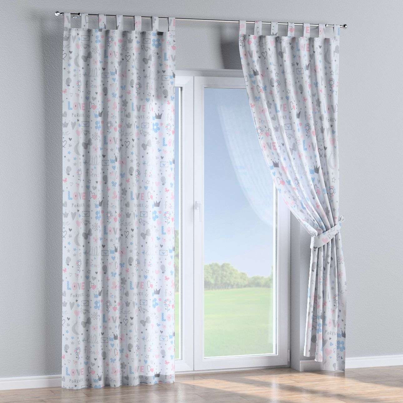 Tab top curtains 130 × 260 cm (51 × 102 inch) in collection Little World, fabric: 141-27