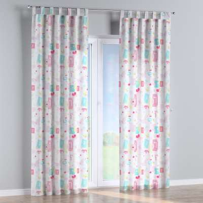 Tab top curtain 141-51 pastel pattern of white background Collection Little World