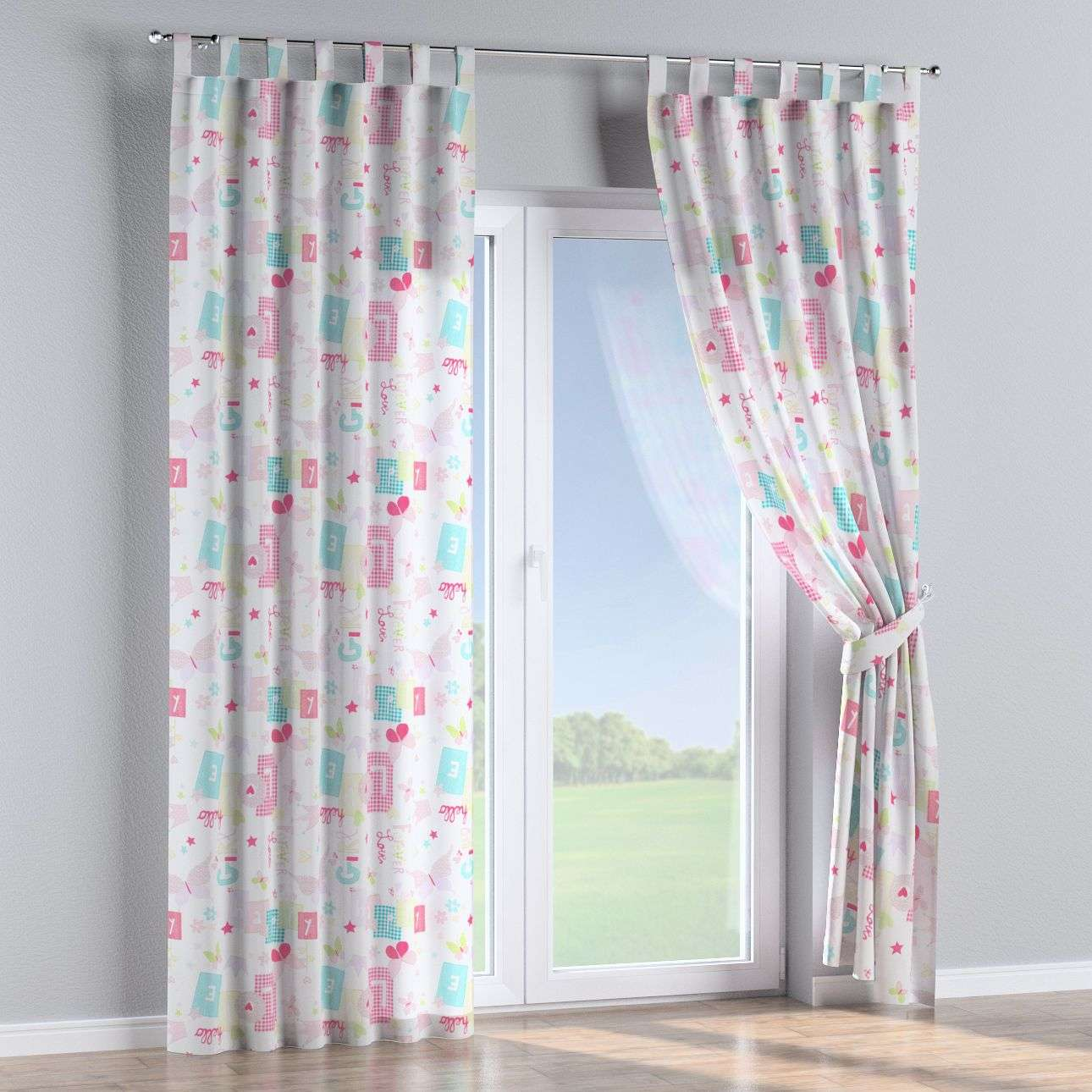 Tab top curtains in collection Little World, fabric: 141-51