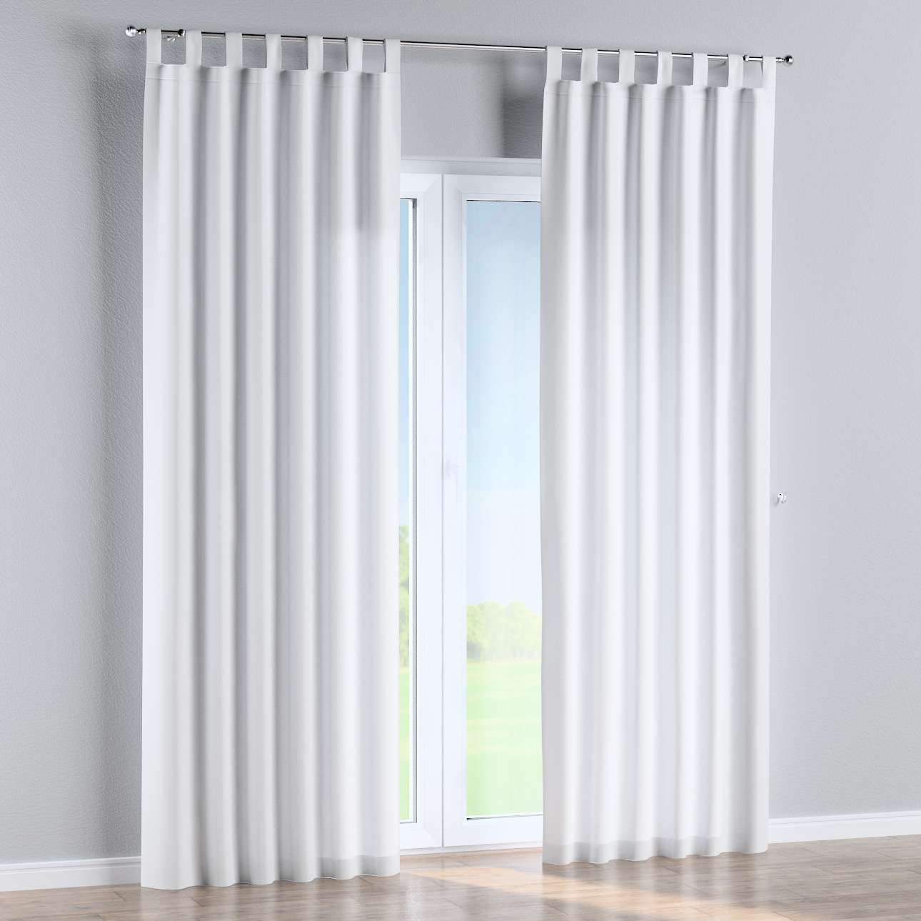 Tab top curtains in collection Damasco, fabric: 141-78