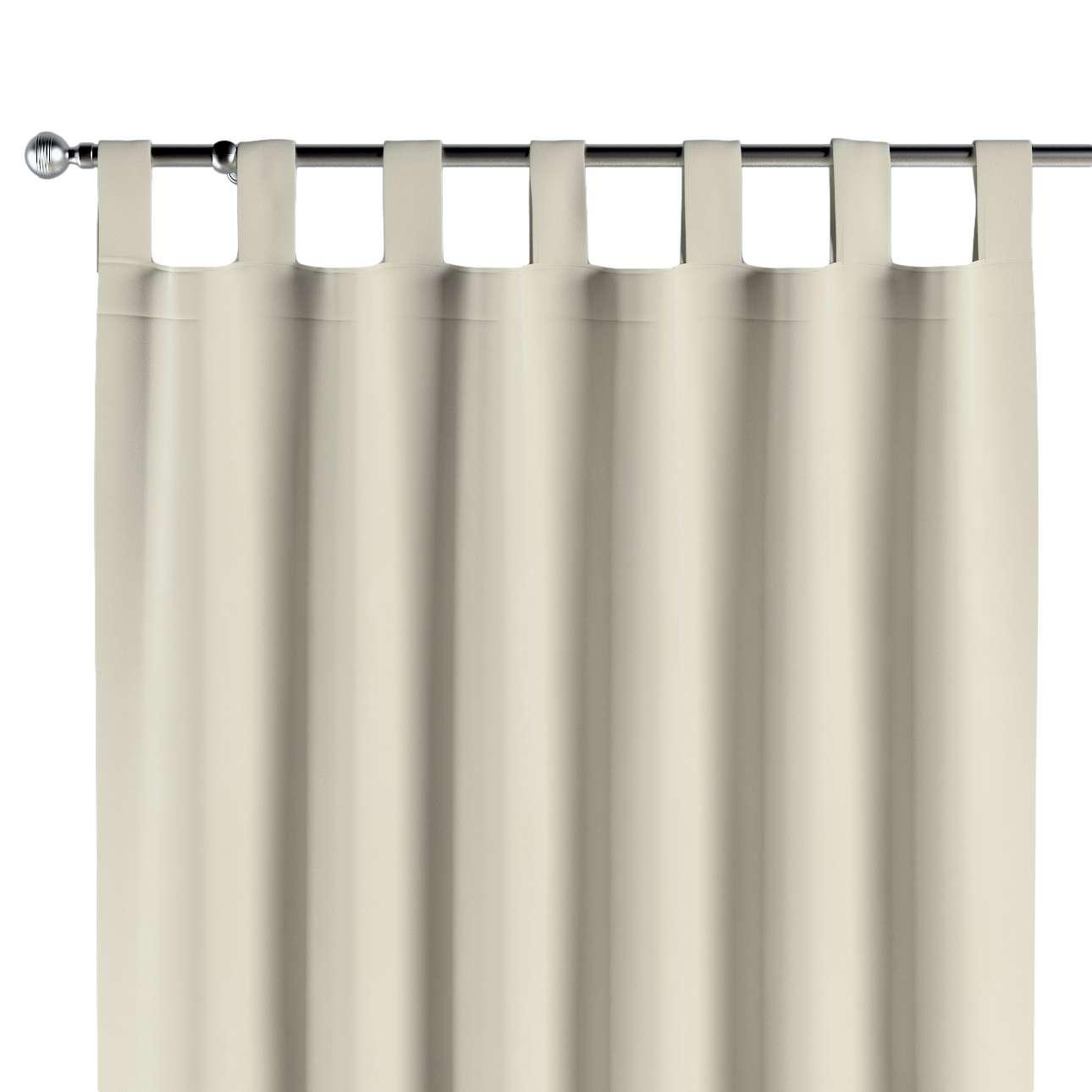 Gardin med stropper 1 stk. 130 × 260 cm fra kolleksjonen Velvet, Stoffets bredde: 704-10