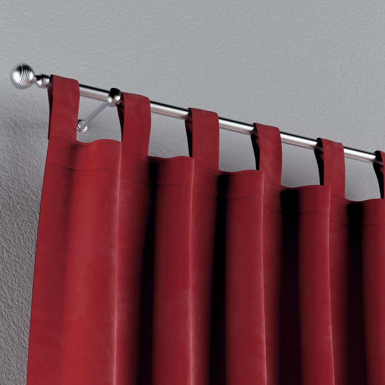 Zasłona na szelkach 1 szt. w kolekcji Velvet, tkanina: 704-15