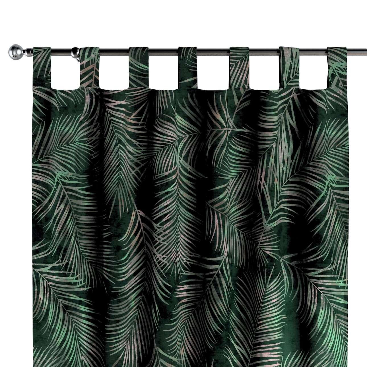 Zasłona na szelkach 1 szt. w kolekcji Velvet, tkanina: 704-21