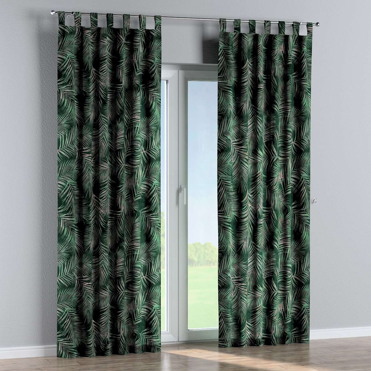 Tab top curtains in collection Velvet, fabric: 704-21