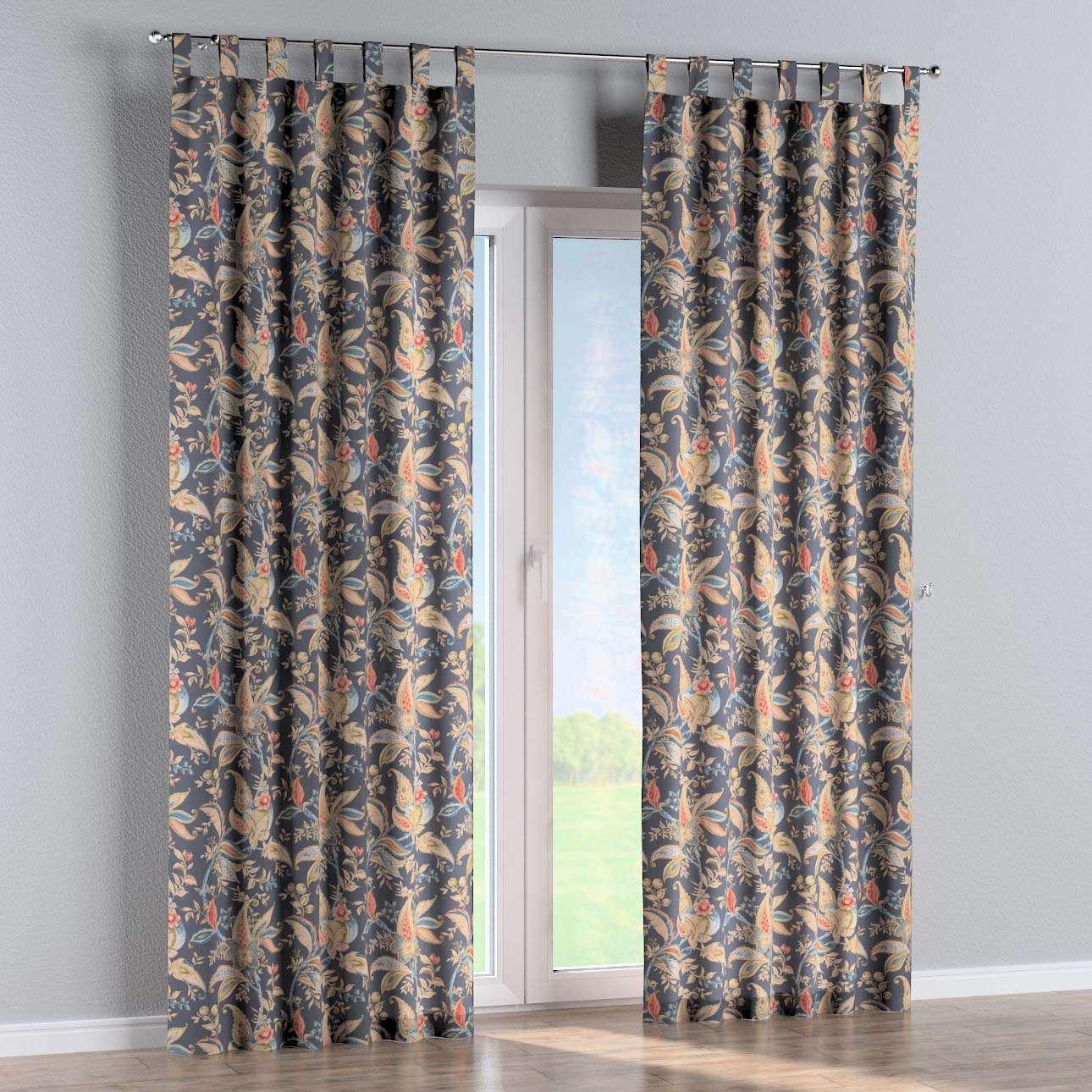 Gardin med hällor 1 längd 130 × 260 cm i kollektionen Gardenia, Tyg: 142-19