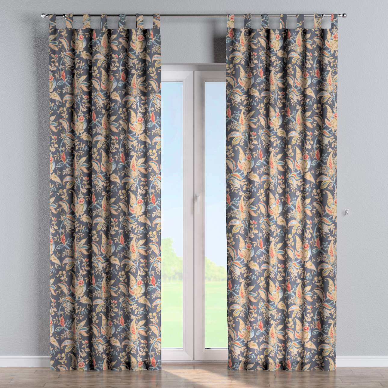 Tab top curtains in collection Gardenia, fabric: 142-19