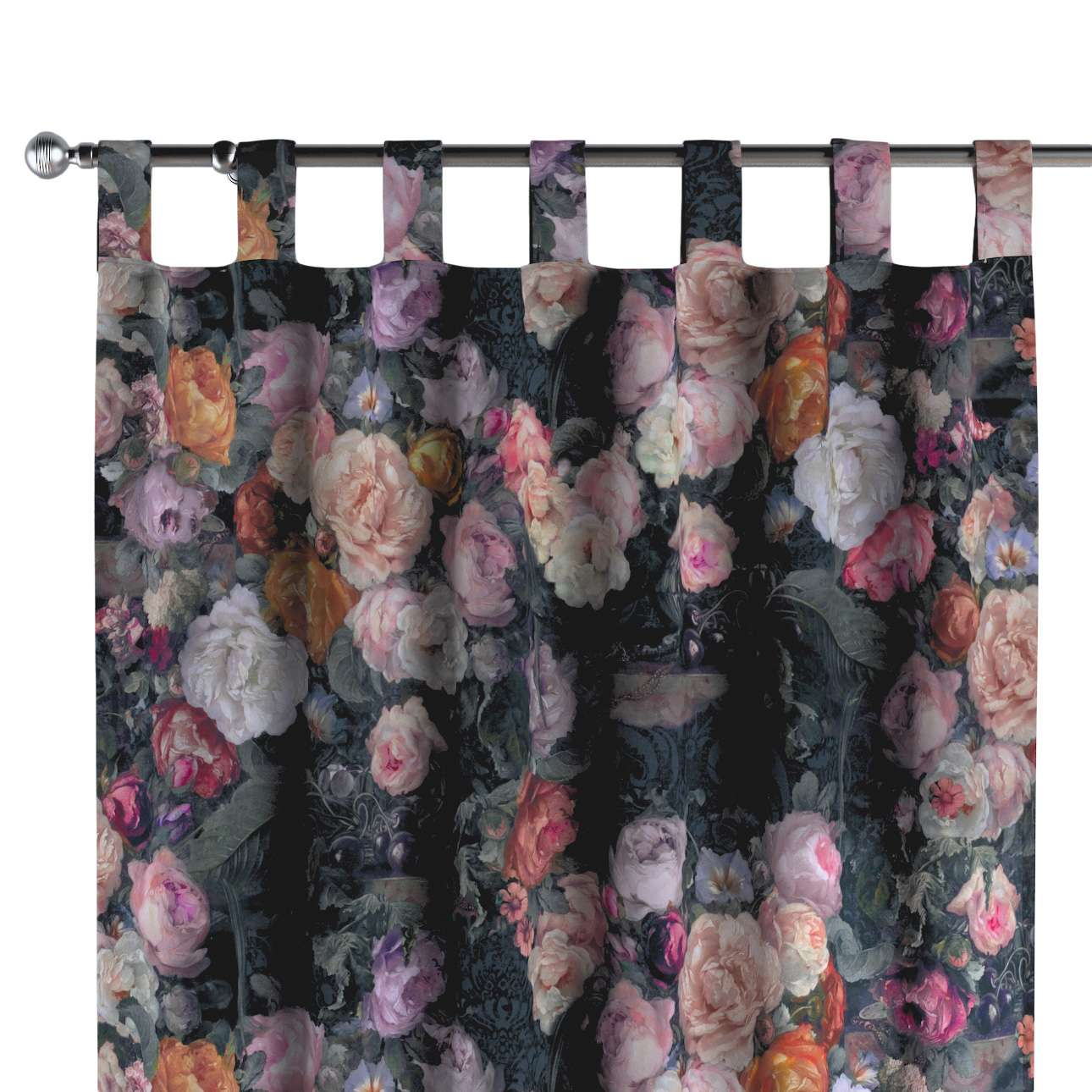 Zasłona na szelkach 1 szt. w kolekcji Gardenia, tkanina: 161-02